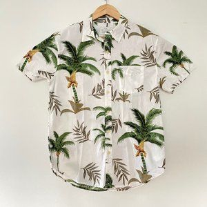 NEW Lucky Brand Small  Palm Trees Button Up Shirt